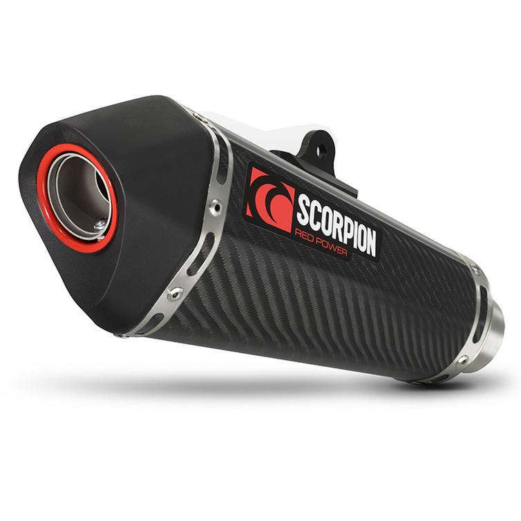 Scorpion Serket Taper Carbon Oval Exhaust - Kawasaki Z1000 SX 2014 With Panniers
