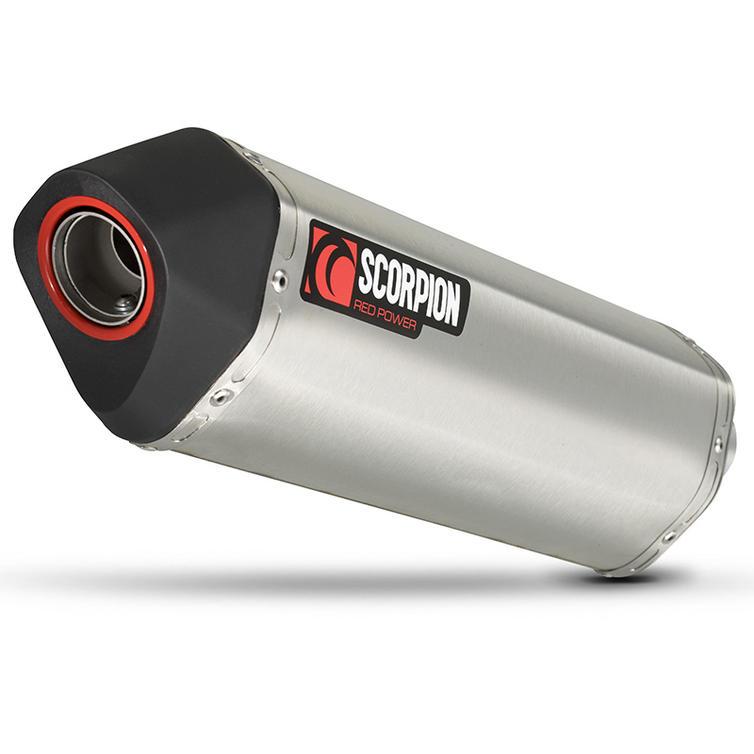 Scorpion Serket Parallel Stainless Oval Exhaust - Suzuki V-Strom 1000 2014