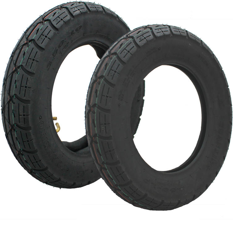 """Yuanxing 10"""" Scooter Tyre (3.50-10) 51J Red Green"""