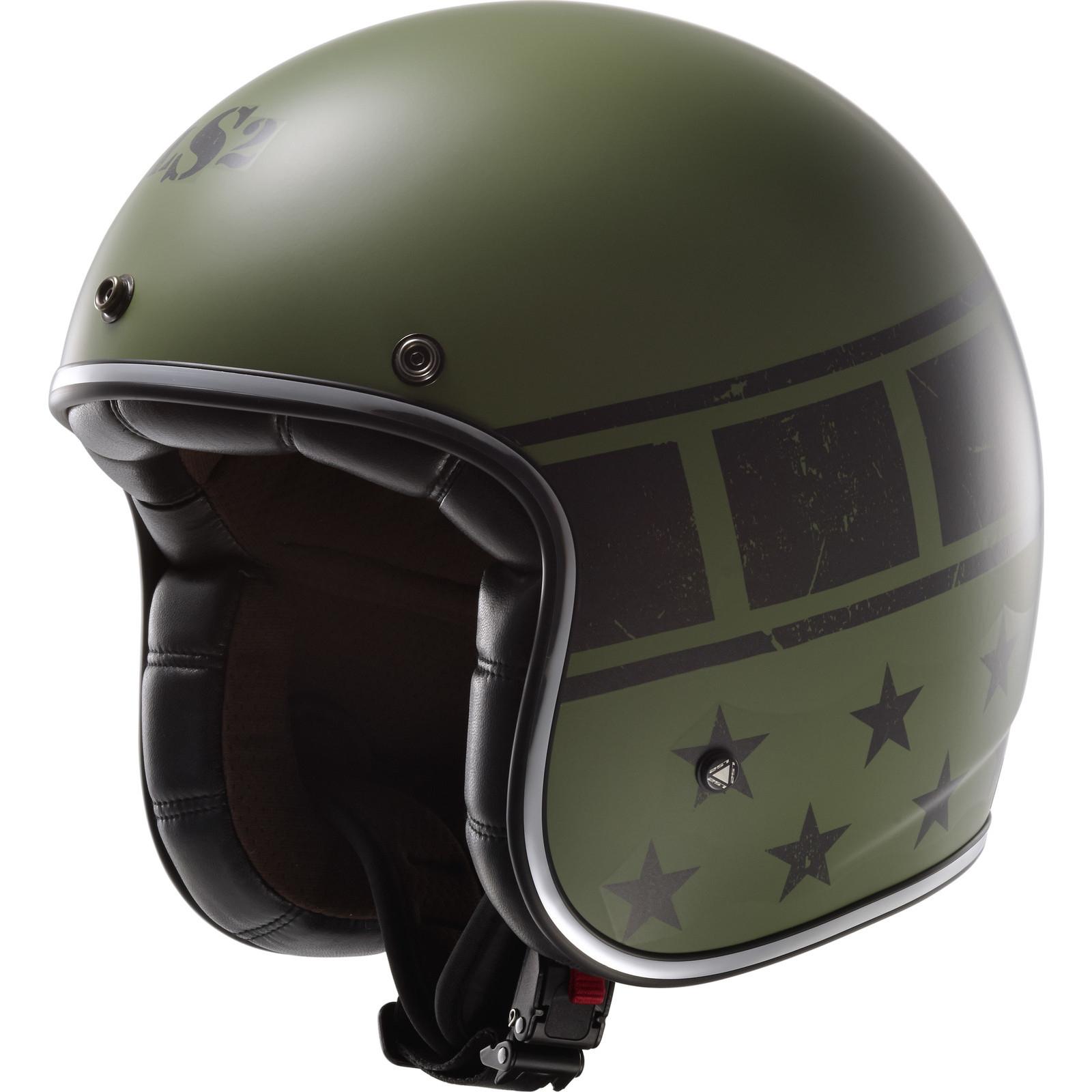 LS2 OF583 Bobber Kurt Matt Military Green Open Face