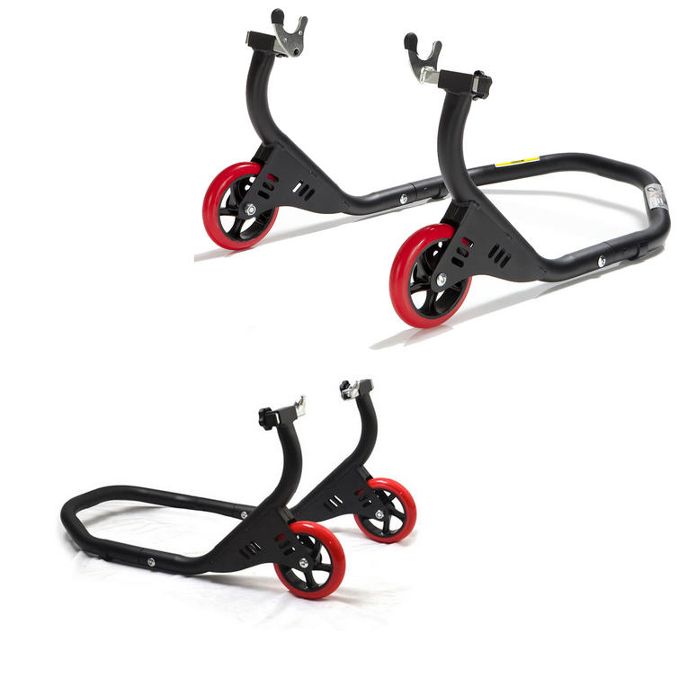 Black Pro Range Evo Front & Rear Paddock Stand