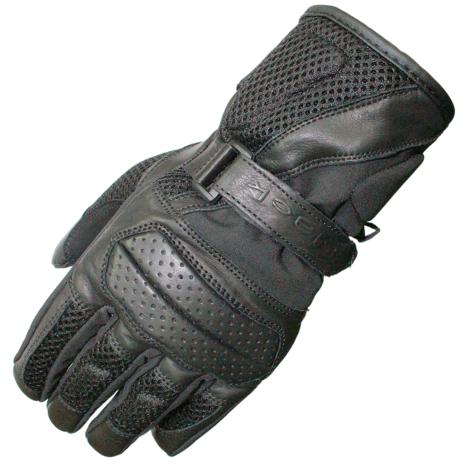 Motorcycle gloves for summer - Black Airflow Leather Mesh Summer Motorcycle Gloves Vented