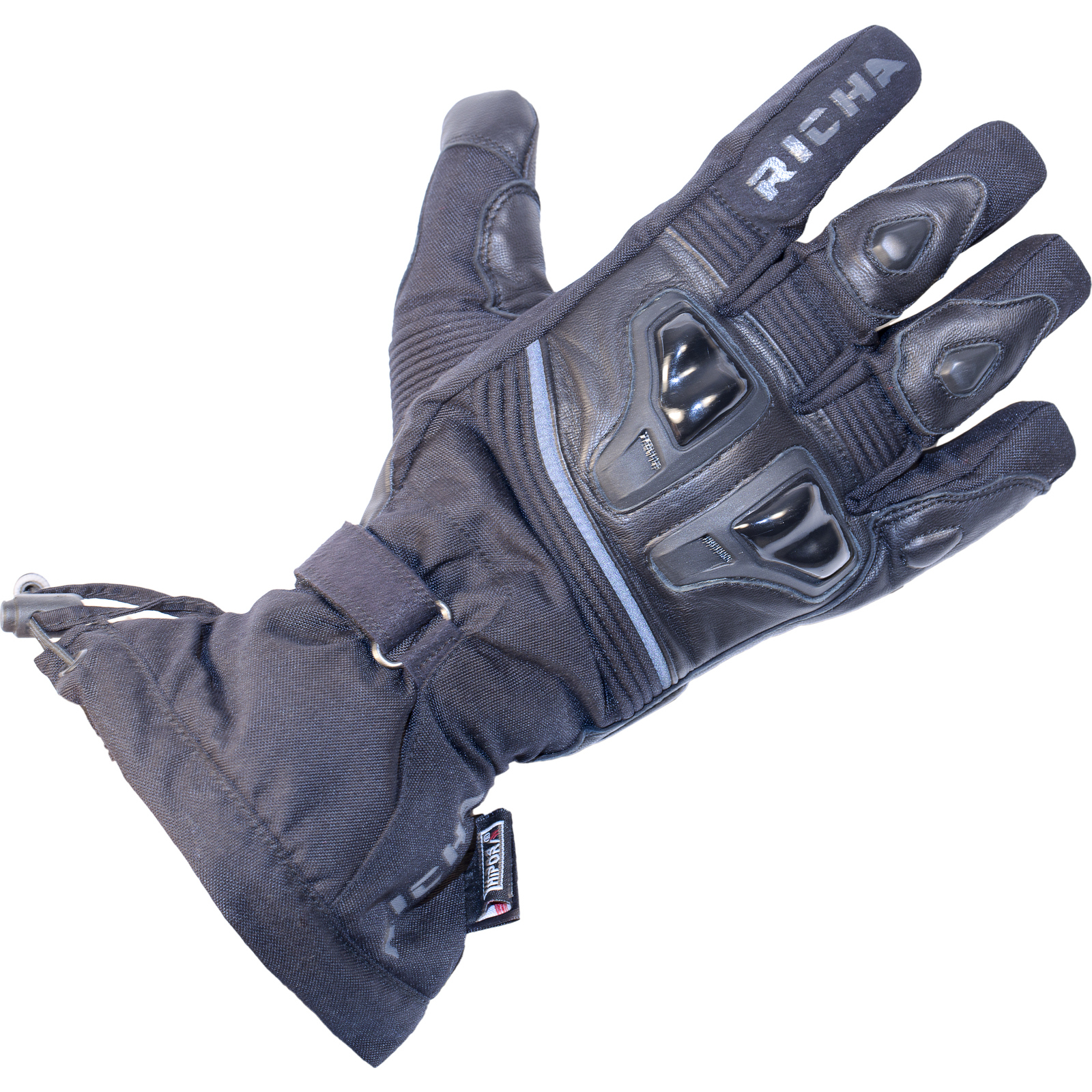 Motorcycle gloves richa - Richa Glacier Motorcycle Gloves Textile Leather Winter Wp