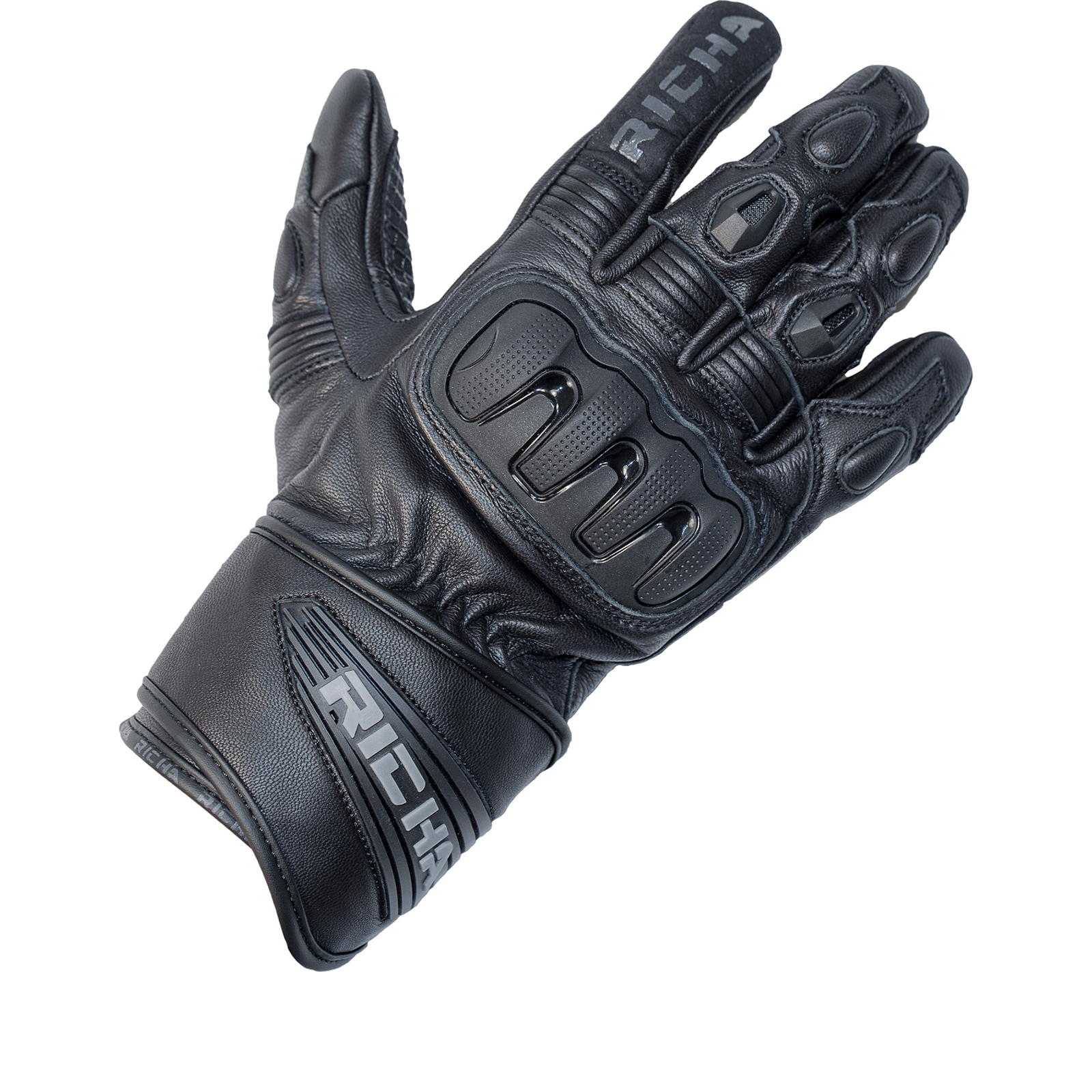 Motorcycle gloves richa - Richa Dark Leather Motorcycle Gloves