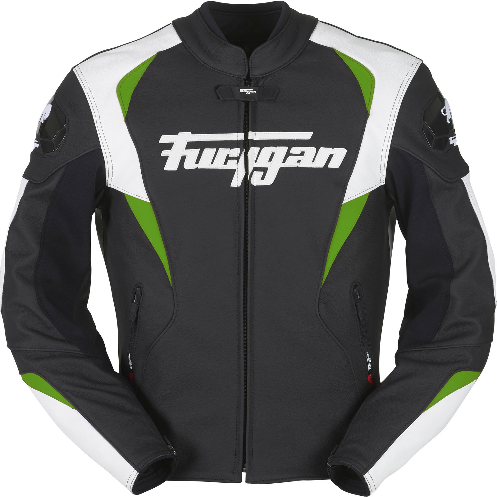 Furygan Snake Leather Motorcycle Jacket Waterproof Bike CE Armour ...