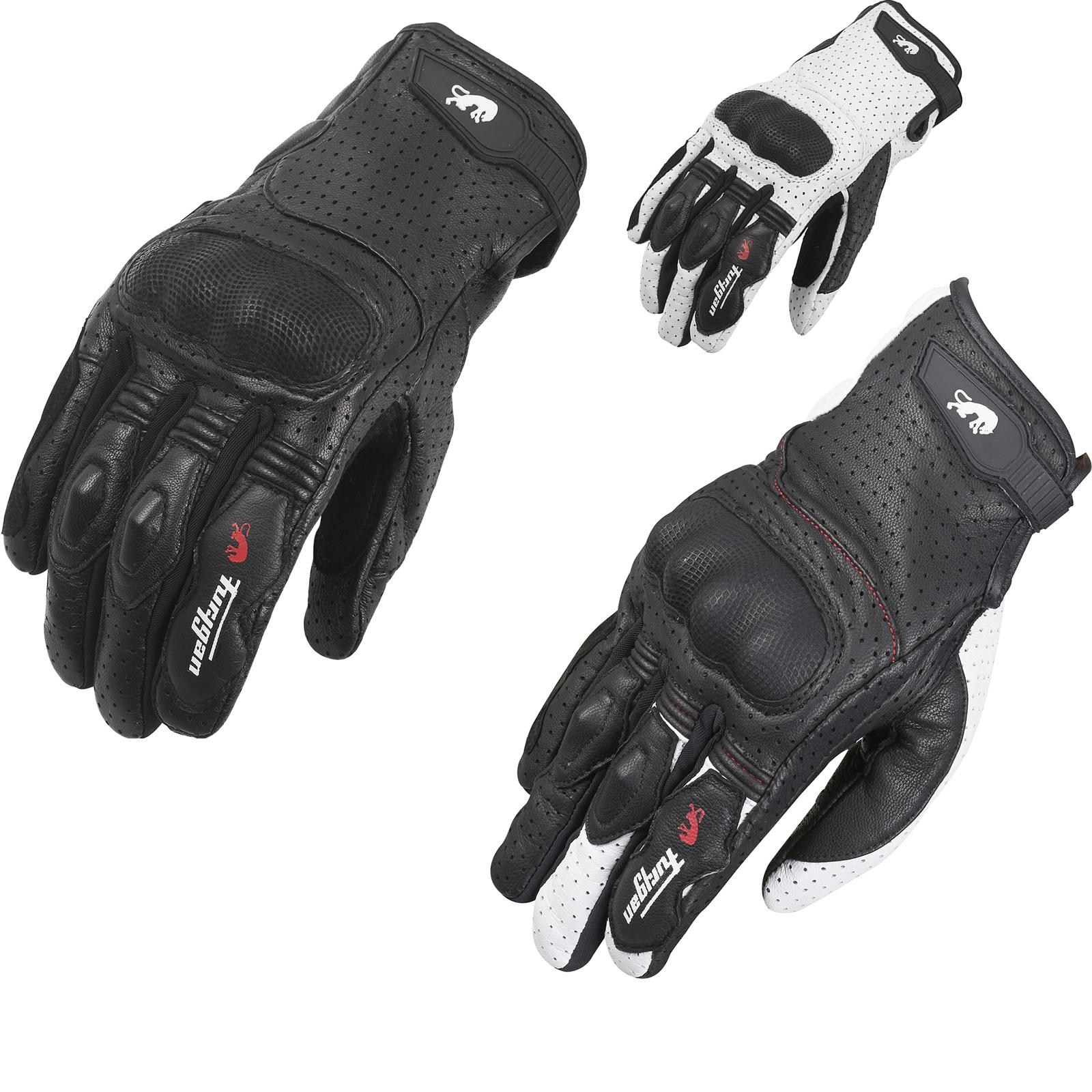 Sport Motorcycle Gloves: Furygan TD21 Sport Leather Motorcycle Gloves