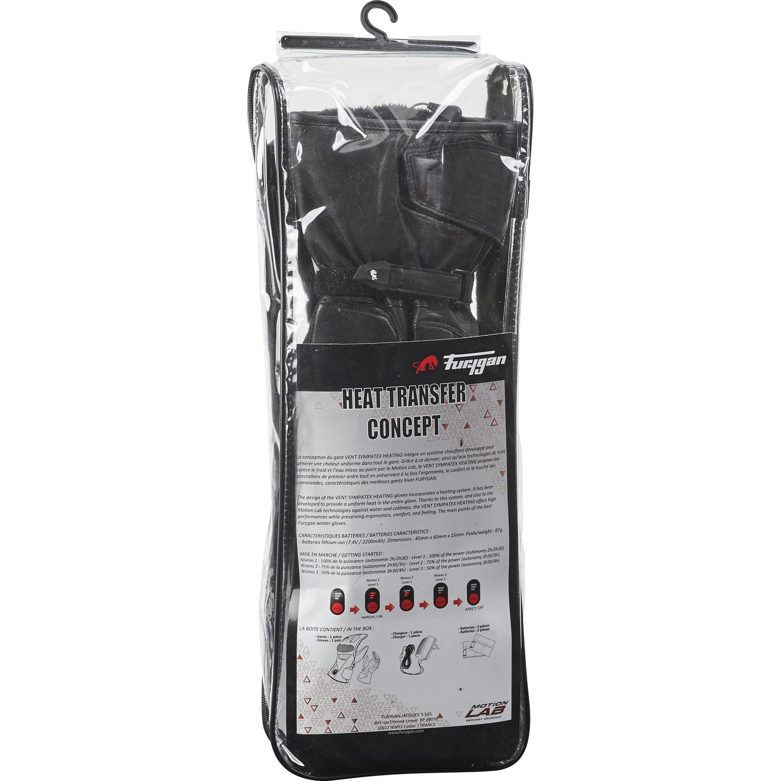 Heated motorcycle gloves new zealand - Furygan Vent Sympatex Heating Winter Motorcycle Gloves Waterproof
