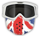 Shark Drak and Raw Union Jack Goggle and Mask Kit
