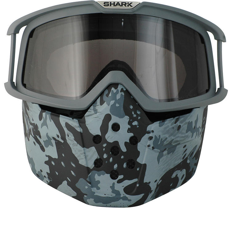 Shark Drak and Raw Camo Goggle and Mask Kit