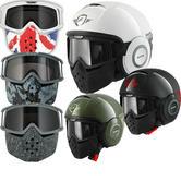 Shark Raw Trinity Motorcycle Helmet Plus Goggle & Mask Kit