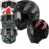 Shark Raw Cult Motorcycle Helmet Plus Goggle & Mask Kit