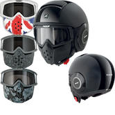 Shark Raw Dual Mat Motorcycle Helmet Plus Goggle & Mask Kit
