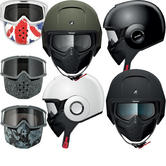 Shark Raw Blank Motorcycle Helmet Plus Goggle & Mask Kit
