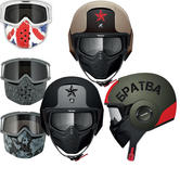 Shark Raw Soyouz Mat Motorcycle Helmet Plus Goggle & Mask Kit