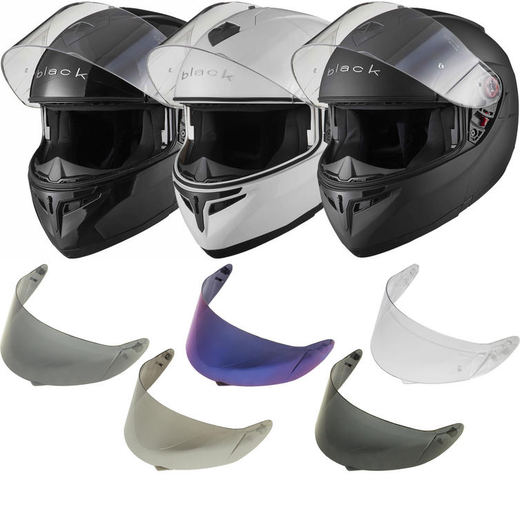 Black Optimus Flip Front Helmet With 30% Off Additional Visor