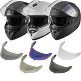 Black Optimus Flip Front Helmet With 30% Off Additional Visor