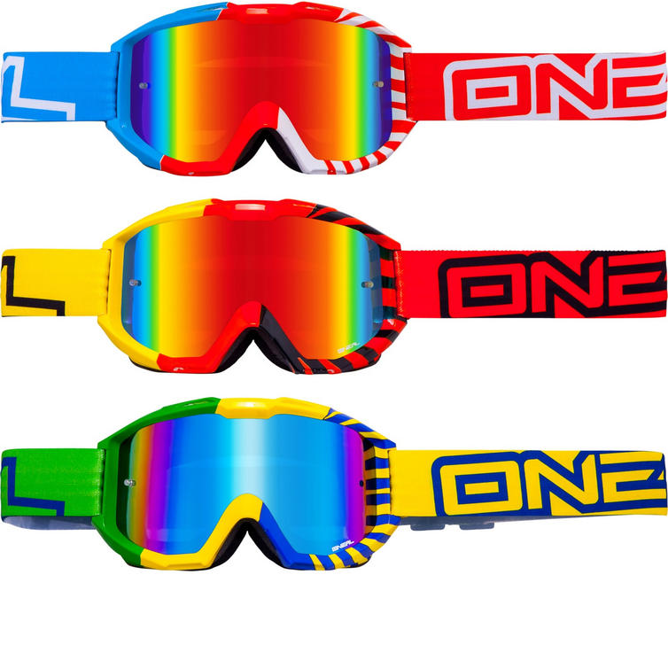 Image of Oneal Blur B1 Okinawa Radium Motocross Goggles