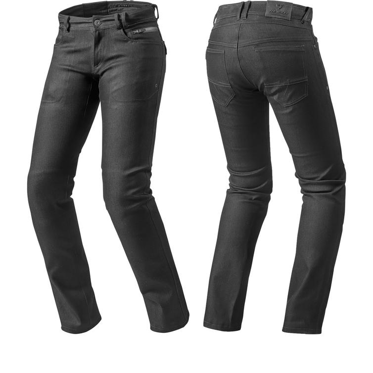 Rev It Orlando H2O Ladies Black Motorcycle Jeans