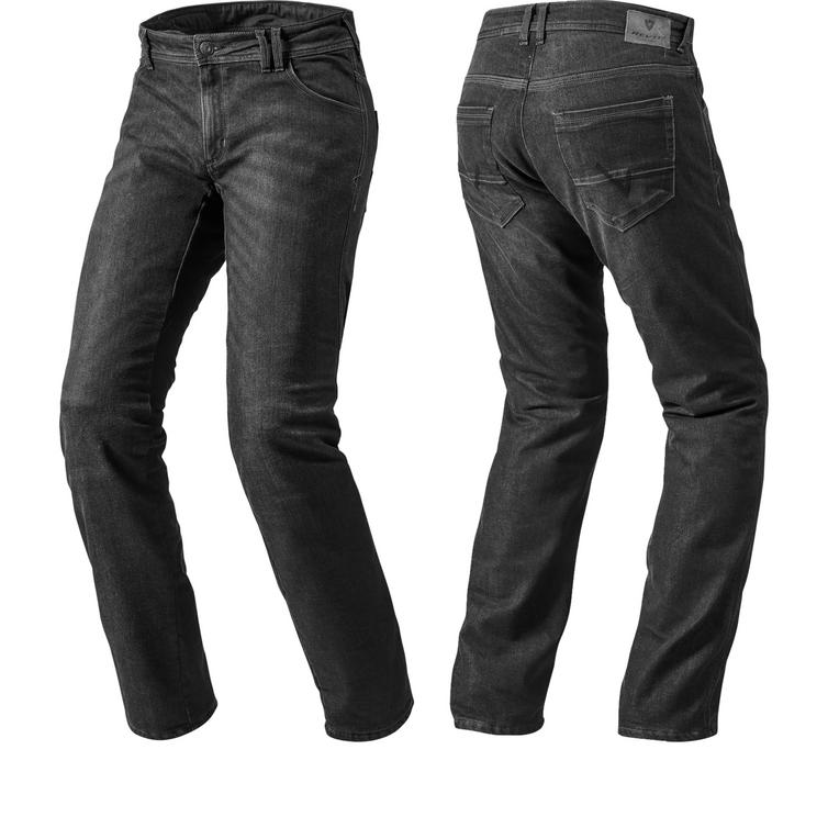 Rev It Orlando H2O Black Motorcycle Jeans