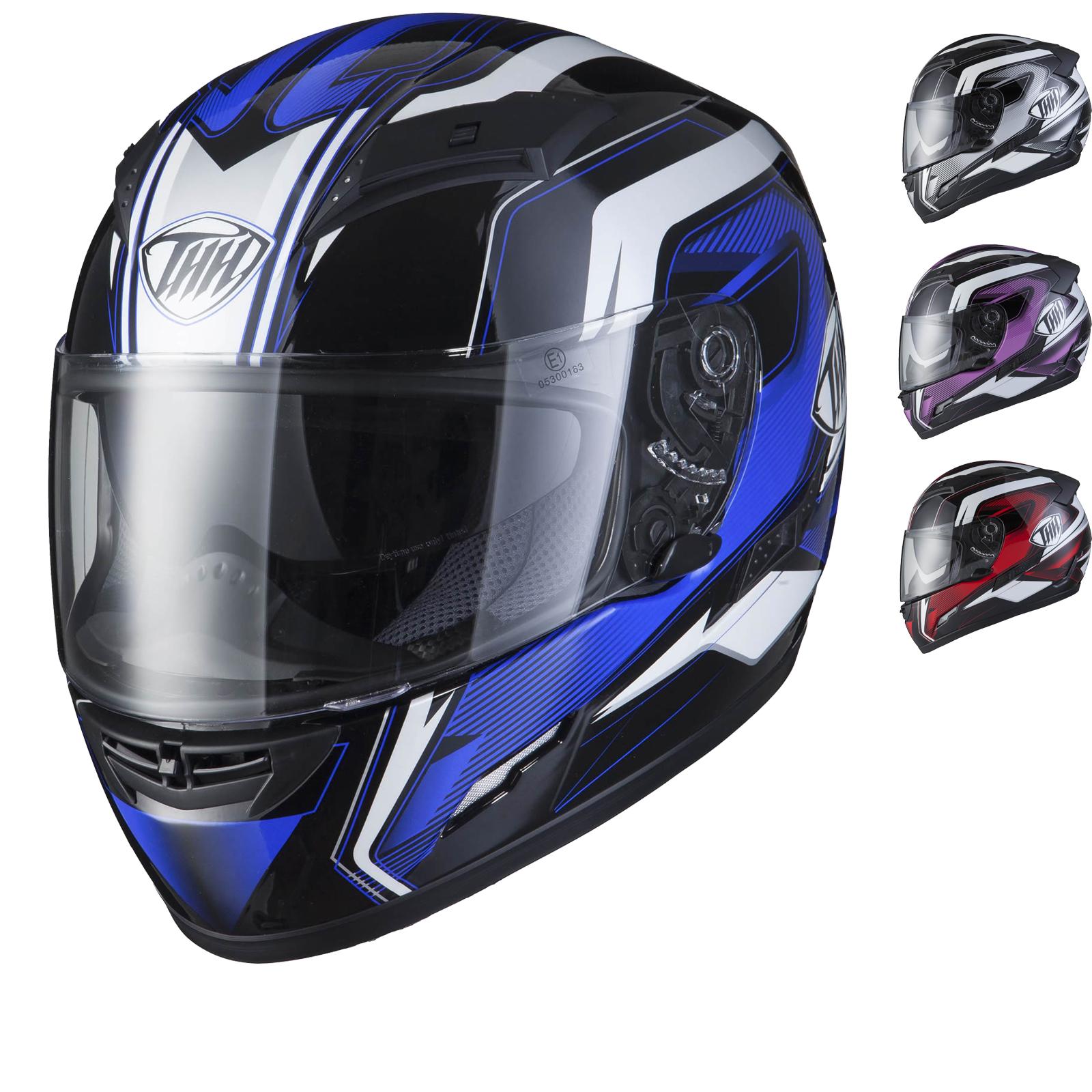 THH TS-80 Plain Full Face Motorcycle Helmet