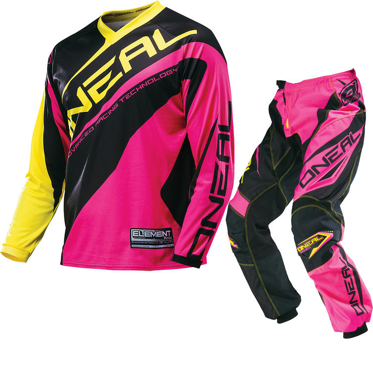 Oneal Element 2016 Racewear Pink Motocross Kit