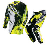 Oneal Element 2016 Shocker Black Hi-Vis Motocross Kit