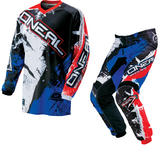 Oneal Element 2016 Shocker Black Red Blue Motocross Kit