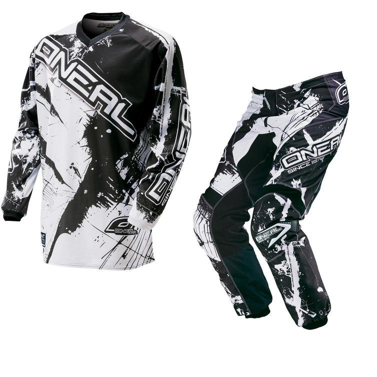 Image of Oneal Element 2016 Shocker Black White Motocross Kit