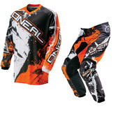 Oneal Element 2016 Shocker Black Orange Motocross Kit