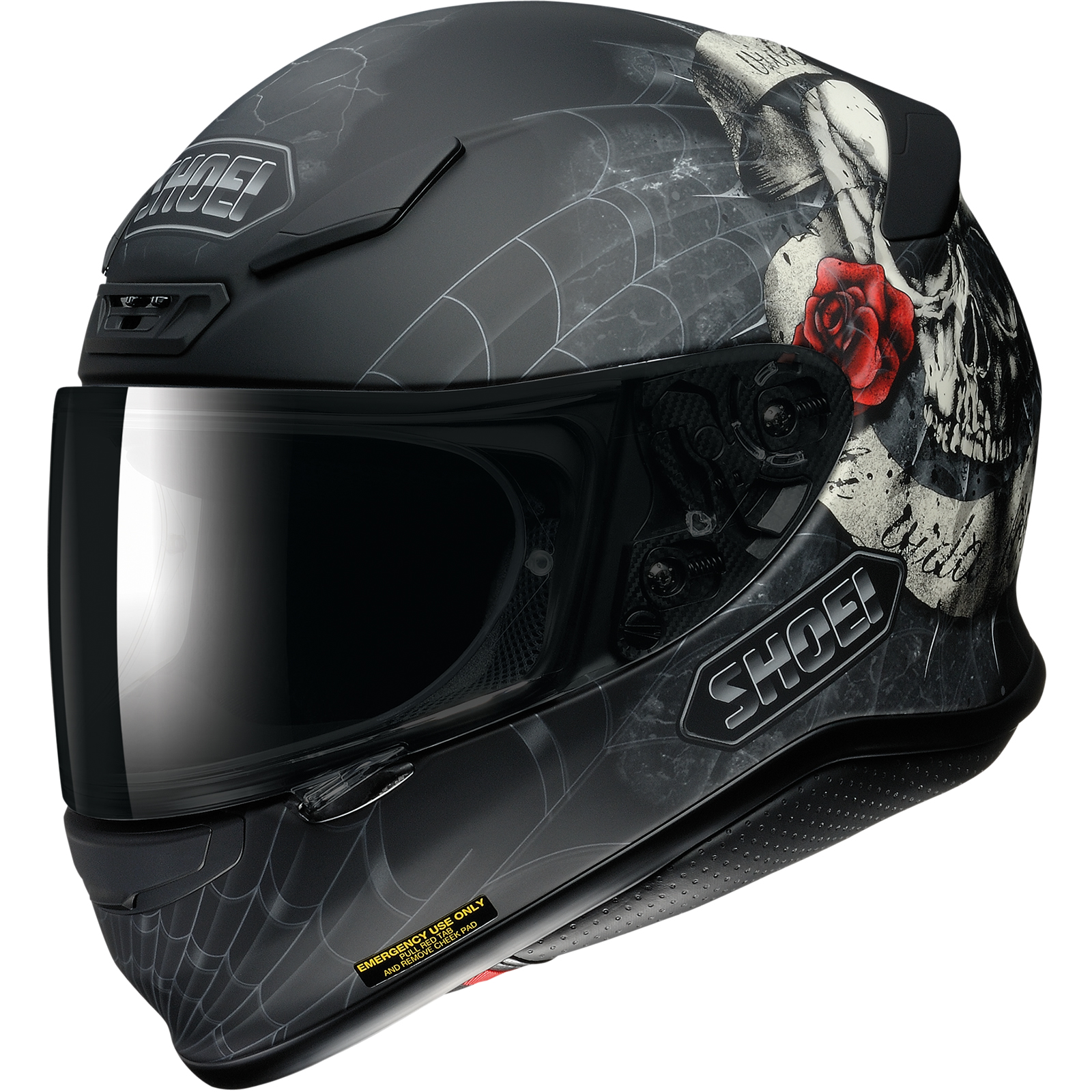 Shoei NXR Brigand Matt Black Motorcycle Helmet TC-10 ...