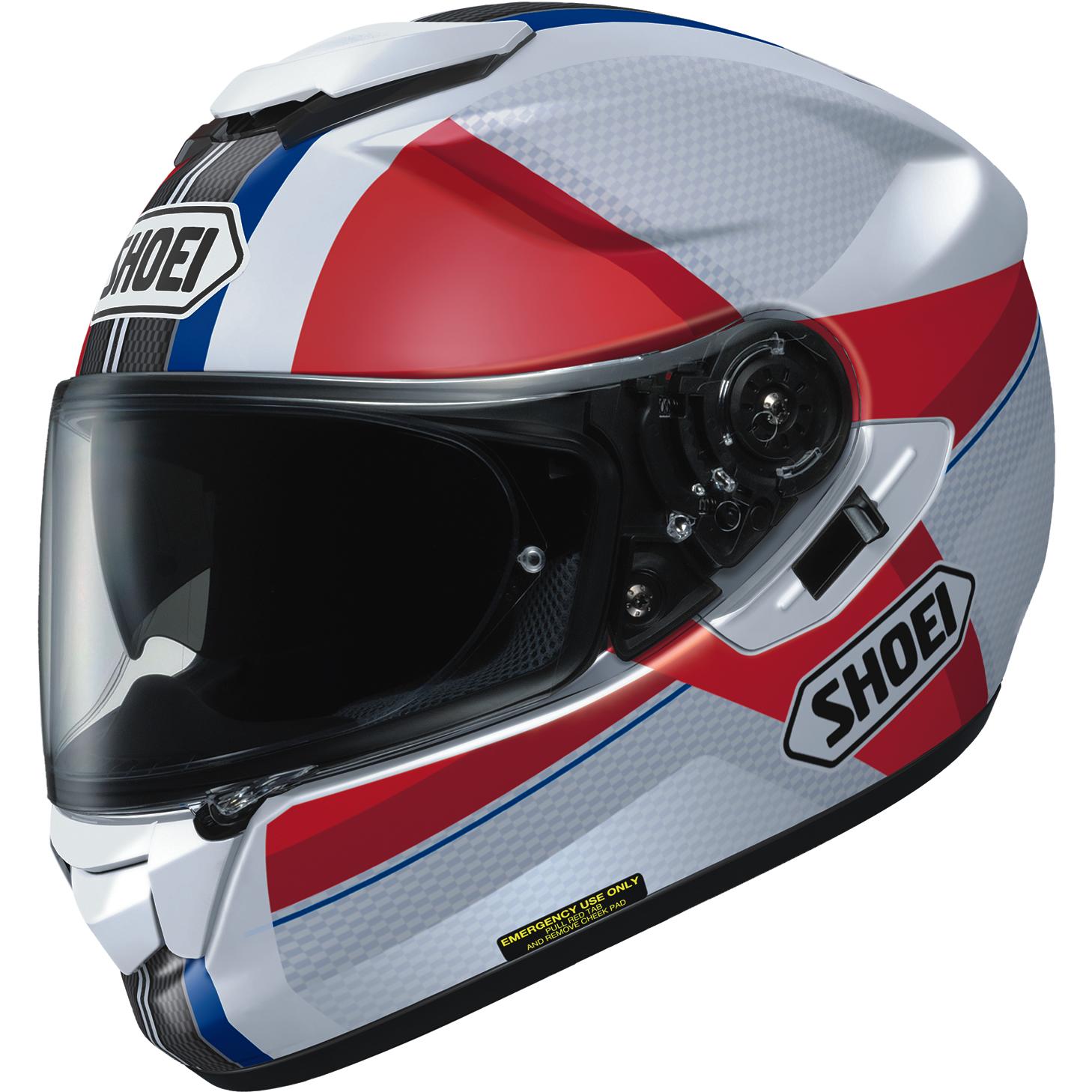 shoei gt air exposure matt black motorcycle helmet tc 10 white blue red dd ring ebay. Black Bedroom Furniture Sets. Home Design Ideas