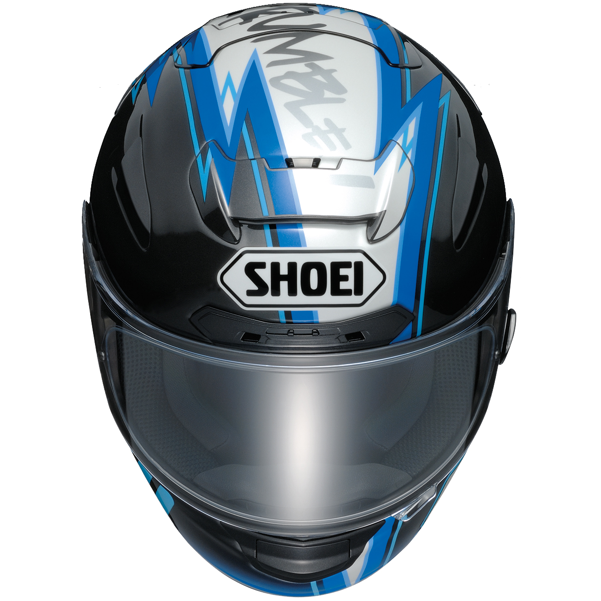 shoei x spirit 2 marquez montmelo black blue white motorcycle helmet full face ebay. Black Bedroom Furniture Sets. Home Design Ideas