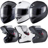 Black Optimus Flip Front Motorcycle Helmet