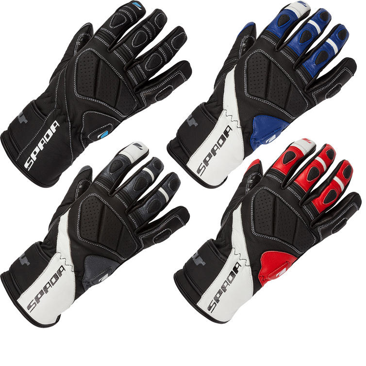Spada Burnout Leather Motorcycle Gloves
