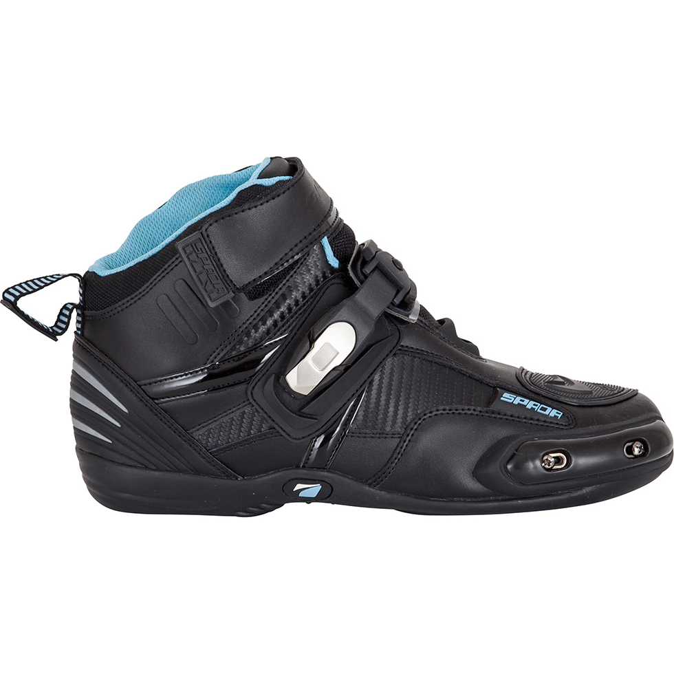 Spada Compact Leather Motorcycle Boots Low Cut Race Sole Toe Slider All Sizes