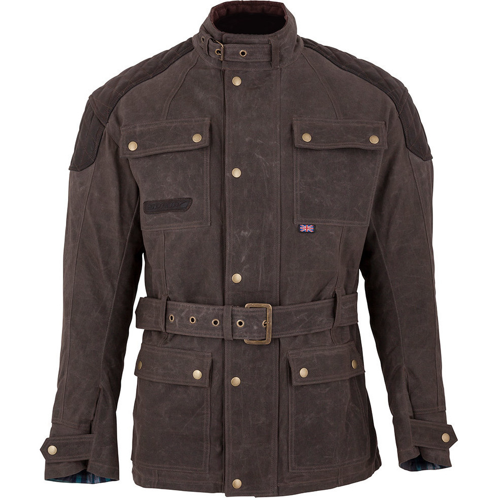 Wax Motorcycle Jacket With Armour