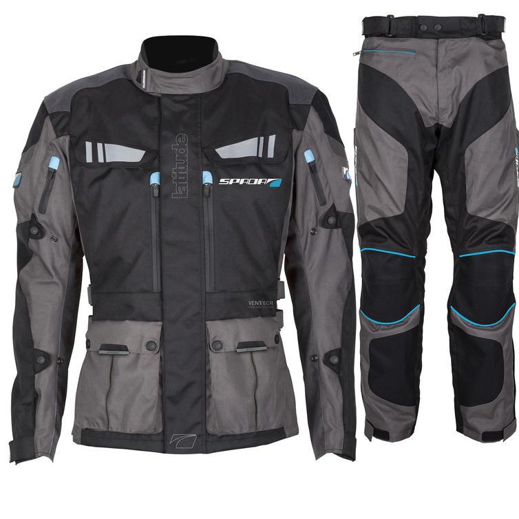 Spada Latitude Motorcycle Jacket & Trousers Kit Black Grey
