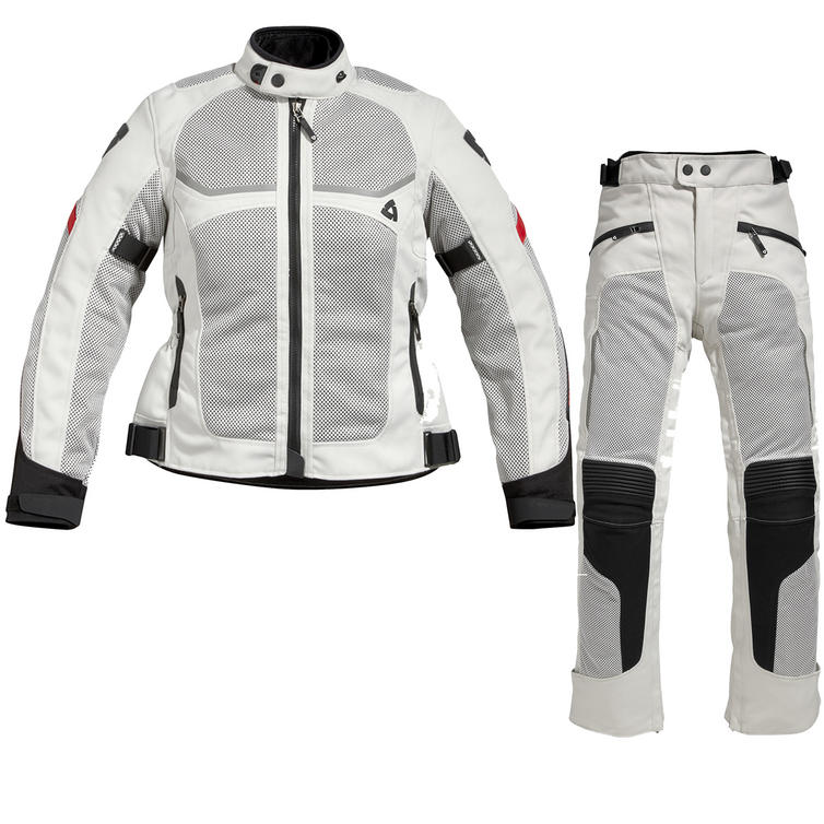 Rev It Tornado Motorcycle Jacket and Trousers Silver Kit