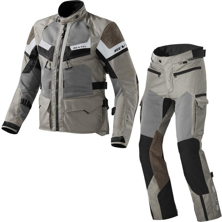 Rev It Cayenne Pro Motorcycle Jacket and Trousers Sand Kit