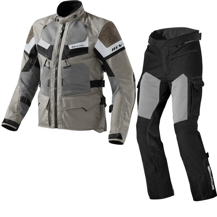Rev It Cayenne Pro Motorcycle Jacket and Trousers Sand Black Kit