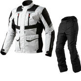 Rev It Neptune GTX Motorcycle Jacket and Trousers Black Silver Black Kit