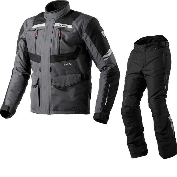 Rev It Neptune GTX Motorcycle Jacket and Trousers Anthracite Black Kit
