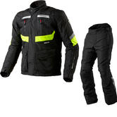 Rev It Neptune GTX Motorcycle Jacket and Trousers Hi-Vis Black Kit