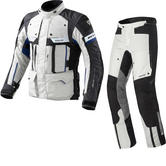 Rev It Defender Pro GTX Motorcycle Jacket and Trousers Grey Blue Kit