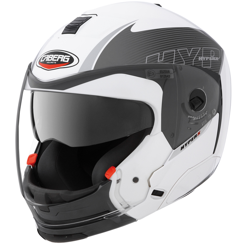 CABERG HYPER X MOD MOTORCYCLE MOTORBIKE HELMET WHITE M Enlarged Preview