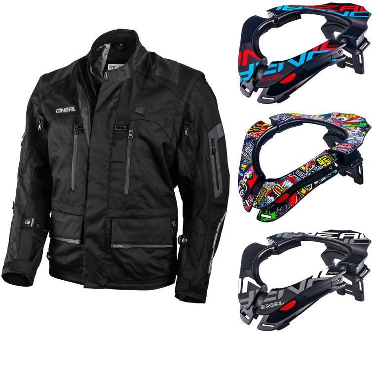 Oneal Baja Racing Enduro Moveo Jacket and Tron Neck Brace Kit