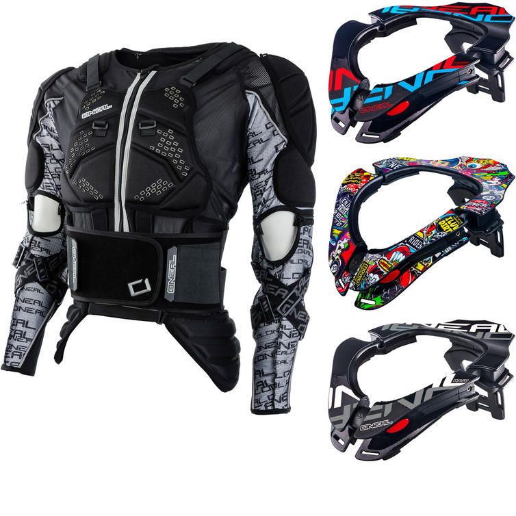 Oneal MadAss Moveo Protector Jacket and Tron Neck Brace Kit