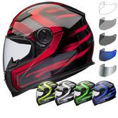 Shox Sniper Skar Motorcycle Helmet & Visor