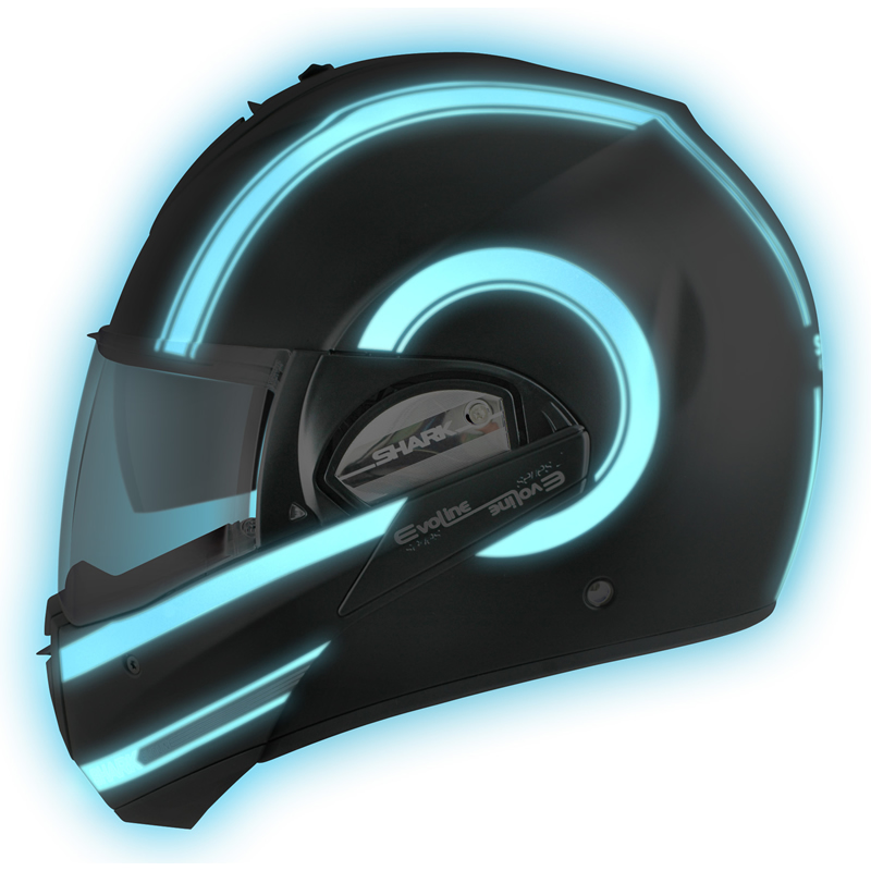 shark evoline series 2 st moovit lumi glow in the dark motorcycle flip up helmet ebay. Black Bedroom Furniture Sets. Home Design Ideas