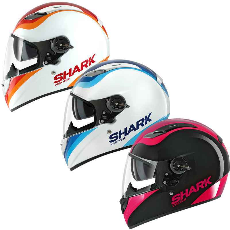 shark vision r pixy ladies motorbike womens girls full face motorcycle helmet ebay. Black Bedroom Furniture Sets. Home Design Ideas